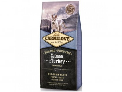 10906 carnilove dog salmon turkey for puppies 1 5 kg