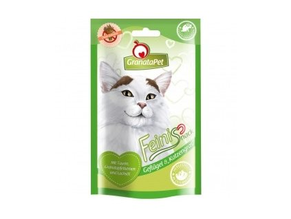 GranataPet Feinis drůbež s kočičí trávou 50 g