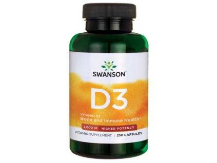 Swanson Vitamin D3, 2000 IU, Vyšší účinnost, 250 kapslí