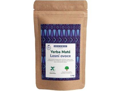 BrainMax Pure Organic Yerba Maté - Lesní ovoce, 1000 g