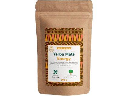 BrainMax Pure Organic Yerba Maté - Energy, 500 g