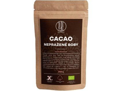 BrainMax Pure Kakaové boby RAW, BIO, 250 g