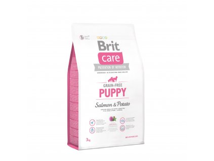 brit care grain free puppy salmon potato 3kg 1
