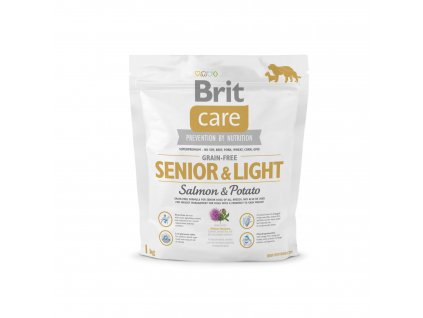 Brit Care Grain free Senior&Light Salmon & Potato