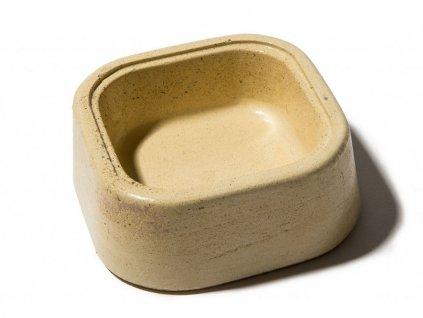 betonova miska s glazurovanym povrchem 0 175l bezova 1