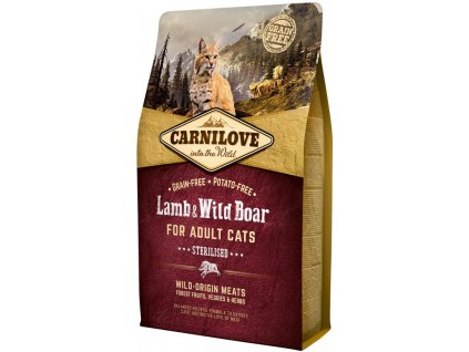 Carnilove Adult Lamb & Wild Boar Adult Sterilised – 2 kg
