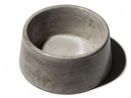 betonova miska s glazurovanym povrchem 3 5l seda domaci mazel