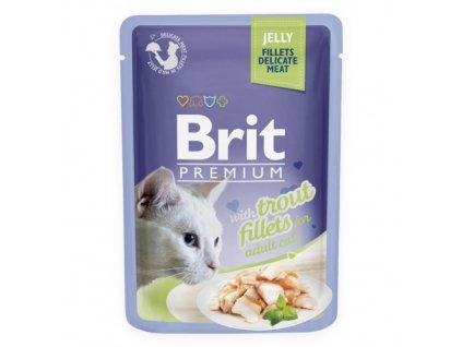 brit premium 85g cat kaps filety se pstruhem v zele 1ks 24ks 94