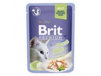 brit premium 85g cat kaps filety se pstruhem v zele 1ks 24ks 94