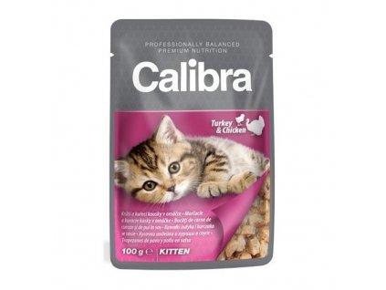 calibra cat 100g kapsa kitten kruti a kureci kousky v omacce