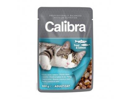 calibra cat 100g kapsa pstruh a losos v omacce 94