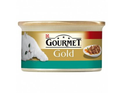 Gourmet konzerva gold mix králík+játra - 85 g