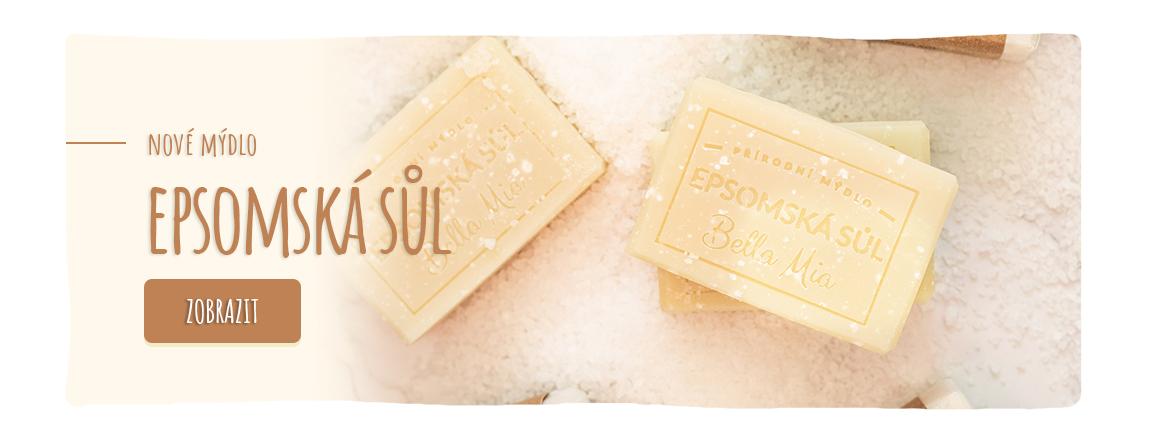 Další letošní novinka - Mýdlo s epsomskou solí