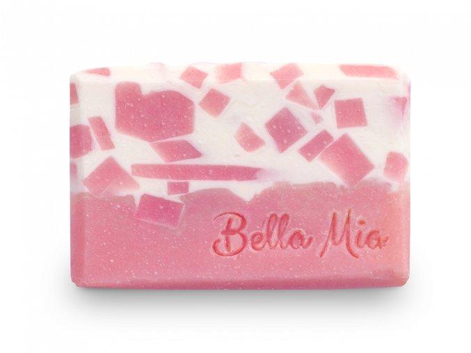 Barevné růžové kostky