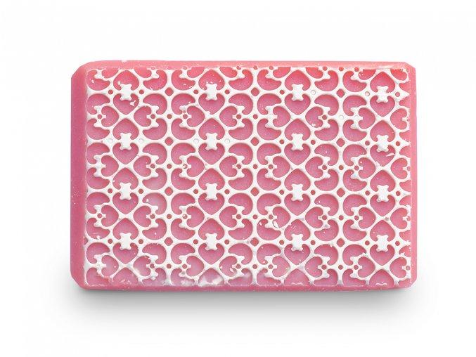 Barevné růžový filigrán