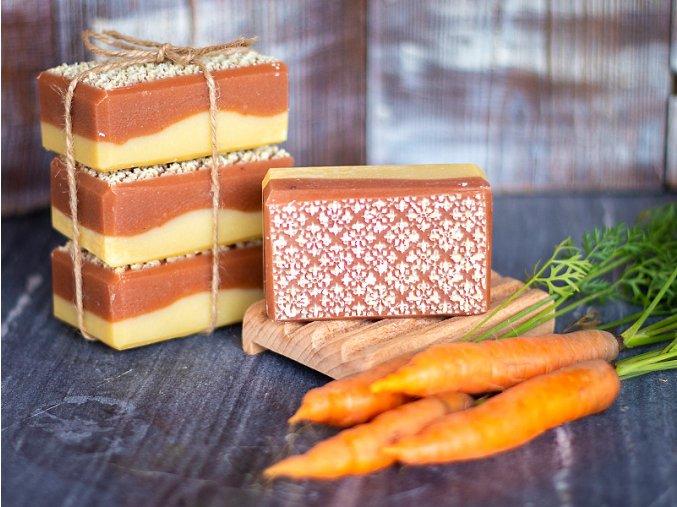 Luxusní ručně vyráběné mrkvové mýdlo