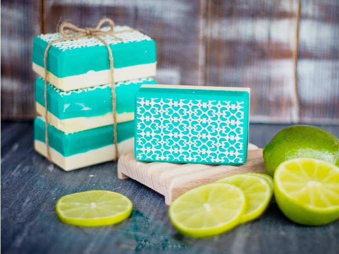 Mýdlo zelený filigrán