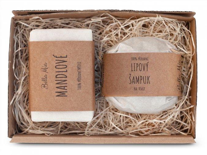 Krabička mýdlo + šampuk lípa