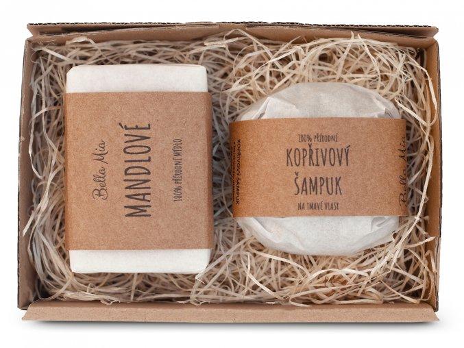 Krabička mýdlo + šampuk kopřiva