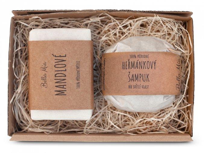 Krabička mýdlo + šampuk heřmánek