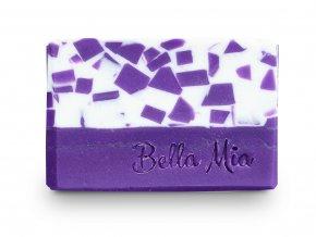 Barevné fialové kostky