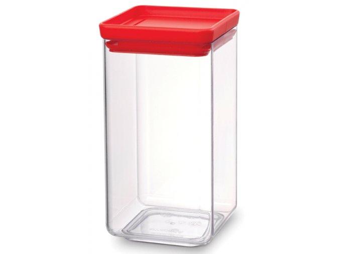 Dóza Square 1,6 L červené víko
