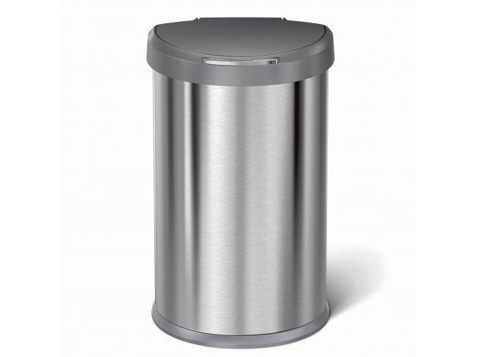 2248 bezdotykovy odpadkovy kos simplehuman 45 l pulkulaty matna ocel fpp plastove viko