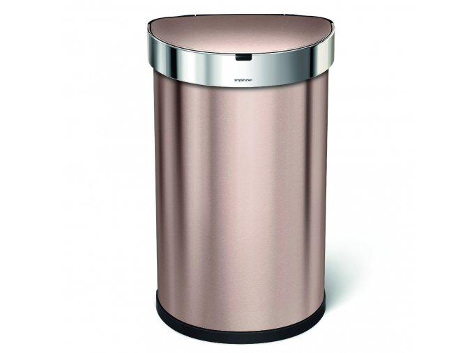 15656 bezdotykovy odpadkovy kos simplehuman 45 l pulkulaty rose gold kapsa na sacky