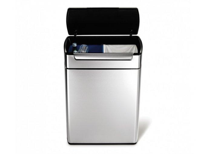 14969 dotykovy odpadkovy kos na trideny odpad simplehuman 48l 24 24 hranaty matna ocel fpp