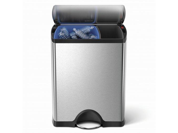 14942 odpadkovy kos na trideny odpad simplehuman 30 16 l obdelnikovy matna ocel fpp