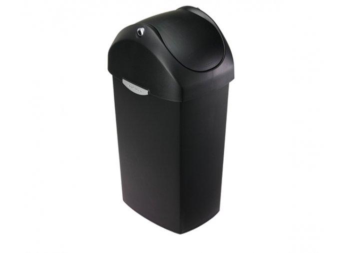 15056 odpadkovy kos simplehuman 60 l houpaci viko cerny plast