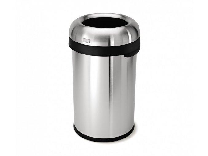 14981 odpadkovy kos simplehuman do komercnich prostor 80 l kulaty otevreny matna nerez ocel