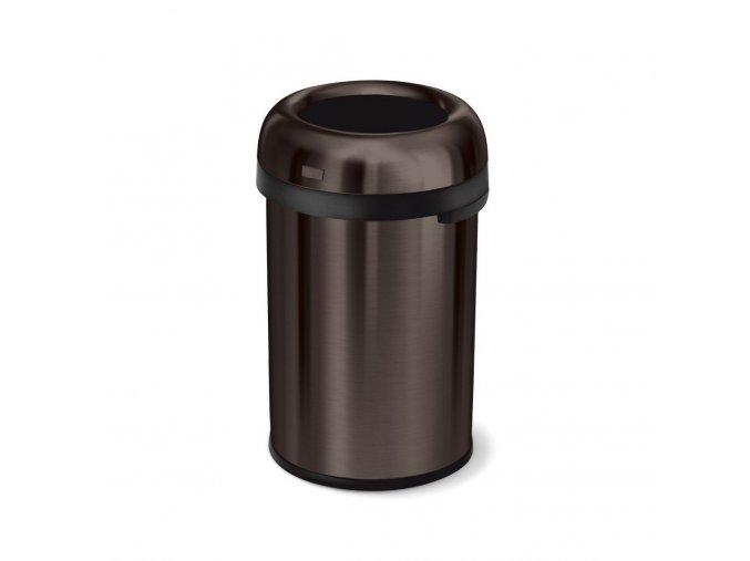 16199 odpadkovy kos simplehuman do komercnich prostor 115 l kulaty otevreny dark bronz ocel