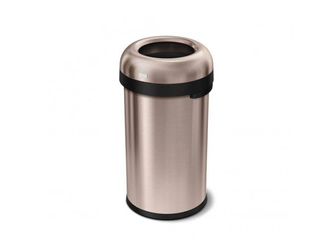 16172 odpadkovy kos simplehuman do komercnich prostor 60 l kulaty otevreny rose gold ocel