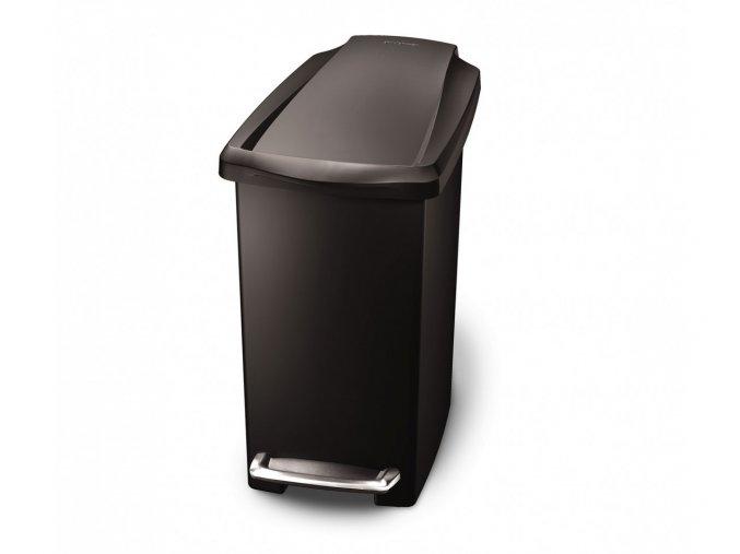 15011 pedalovy odpadkovy kos simplehuman 10 l uzky cerny plast