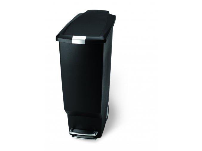 15020 pedalovy odpadkovy kos simplehuman 25 l uzky cerny plast