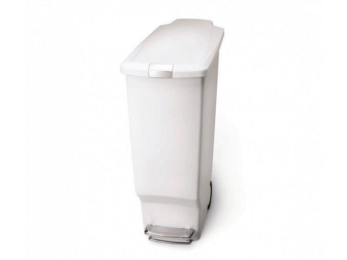15026 pedalovy odpadkovy kos simplehuman 40 l uzky bily plast