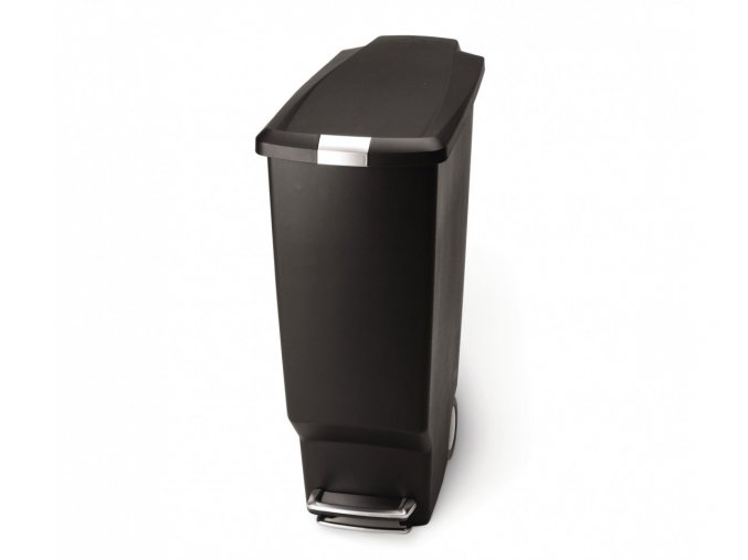 15023 pedalovy odpadkovy kos simplehuman 40 l uzky cerny plast
