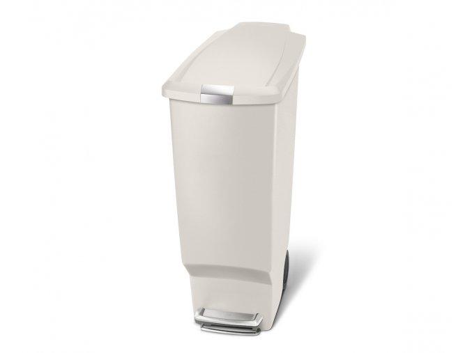 15032 pedalovy odpadkovy kos simplehuman 40 l uzky sedo bezovy plast