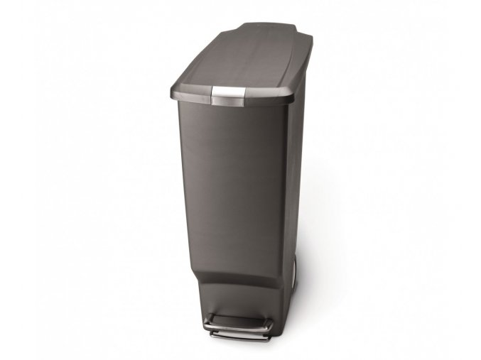 15029 pedalovy odpadkovy kos simplehuman 40 l uzky sedy plast