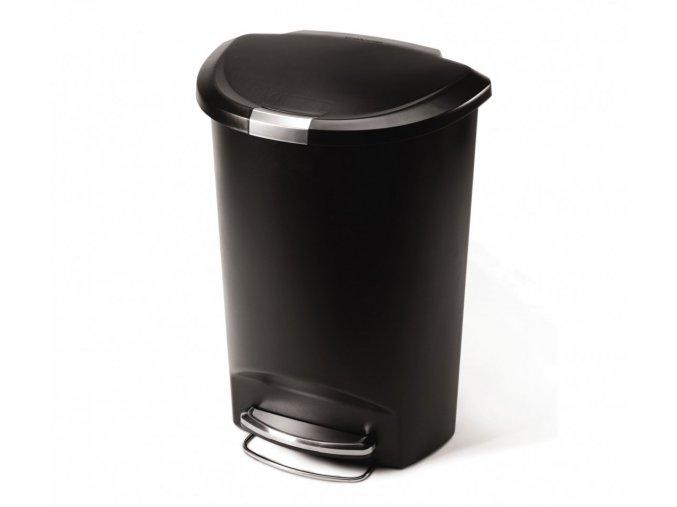 15047 pedalovy odpadkovy kos simplehuman 50 l pulkulaty plast cerny
