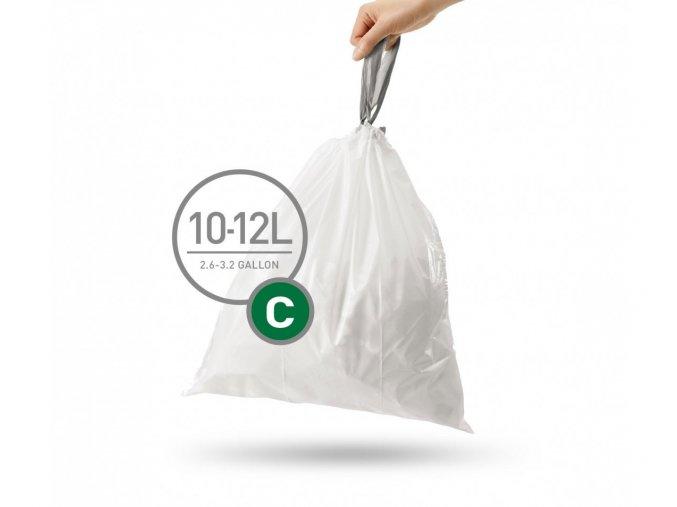 15077 sacky do odpadkoveho kose 10 12 l simplehuman typ c zatahovaci 20 ks v baleni