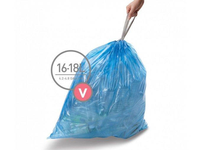 15692 sacky do odpadkoveho kose 16 18 l simplehuman typ v zatahovaci 20 ks v baleni