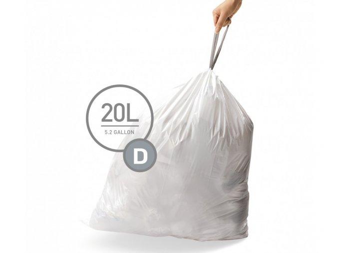 15080 sacky do odpadkoveho kose 20 l simplehuman typ d zatahovaci 20 ks v baleni