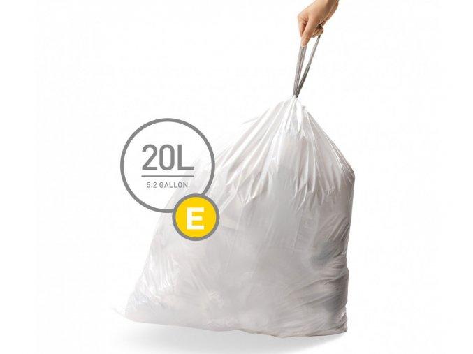 15083 sacky do odpadkoveho kose 20 l simplehuman typ e zatahovaci 20 ks v baleni