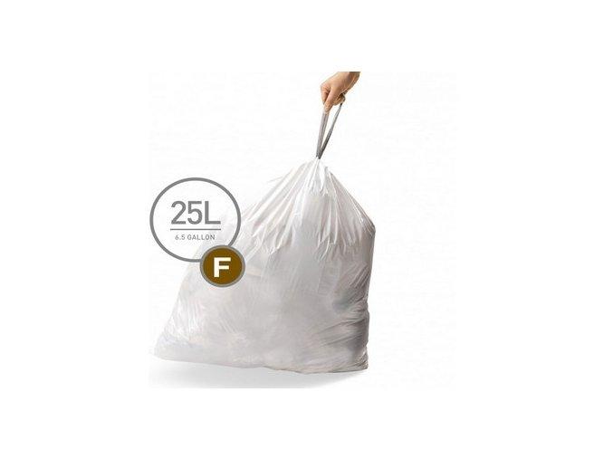 15086 sacky do odpadkoveho kose 25 l simplehuman typ f zatahovaci 20 ks v baleni