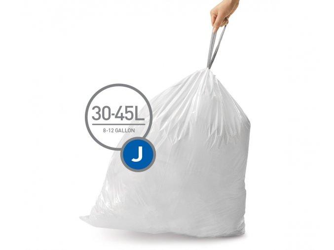 15095 sacky do odpadkoveho kose 30 45 l simplehuman typ j zatahovaci 20 ks v baleni