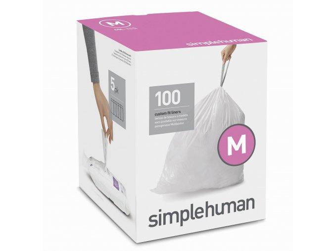 15695 sacky do odpadkoveho kose 45 l simplehuman typ m zatahovaci 5 x 20 ks 100 sacku