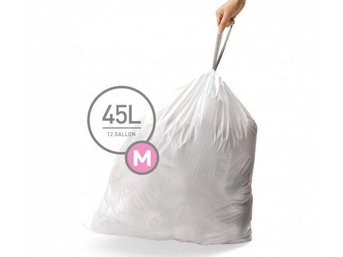 15101 sacky do odpadkoveho kose 45 l simplehuman typ m zatahovaci 20 ks v baleni