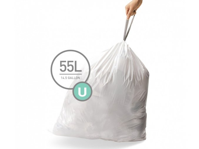 15119 sacky do odpadkoveho kose 55 l simplehuman typ u zatahovaci 20 ks v baleni